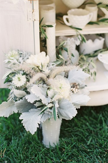 Vintage Lace; Pretty Wedding Ideas Featuring A Crepe Cake & Lamb's Ear Bouquet | Nathalie Cheng 29