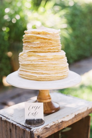 Vintage Lace; Pretty Wedding Ideas Featuring A Crepe Cake & Lamb's Ear Bouquet | Nathalie Cheng 37