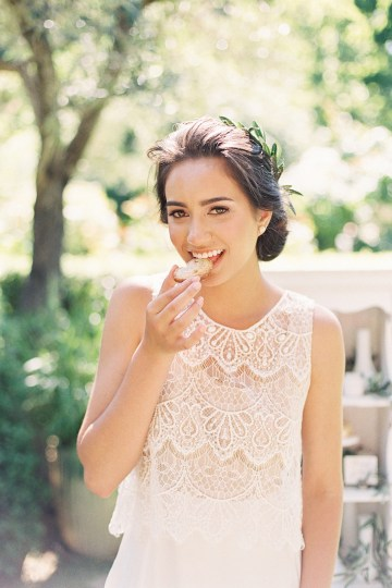 Vintage Lace; Pretty Wedding Ideas Featuring A Crepe Cake & Lamb's Ear Bouquet | Nathalie Cheng 39
