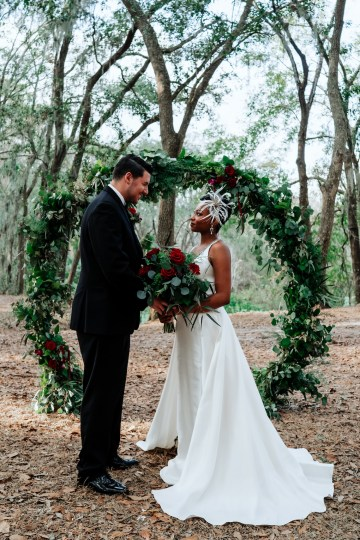 Woodsy Jewel-Toned Wedding Ideas (With A Circle Arch!) | Grind & Press Photography 36