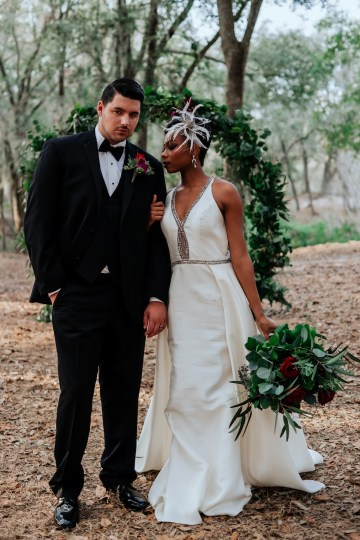 Woodsy Jewel-Toned Wedding Ideas (With A Circle Arch!) | Grind & Press Photography 37
