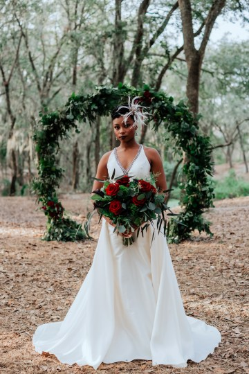 Woodsy Jewel-Toned Wedding Ideas (With A Circle Arch!) | Grind & Press Photography 38