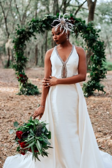 Woodsy Jewel-Toned Wedding Ideas (With A Circle Arch!) | Grind & Press Photography 39
