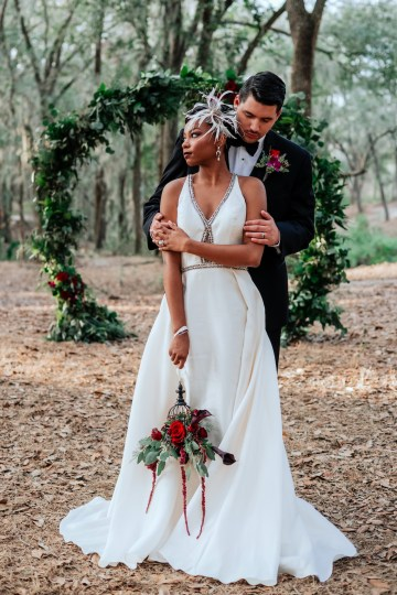 Woodsy Jewel-Toned Wedding Ideas (With A Circle Arch!) | Grind & Press Photography 44
