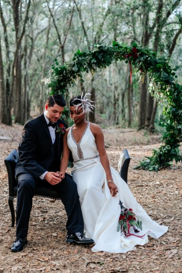 Woodsy Jewel-Toned Wedding Ideas (With A Circle Arch!) | Grind & Press Photography 47