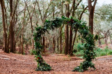 Woodsy Jewel-Toned Wedding Ideas (With A Circle Arch!) | Grind & Press Photography 5