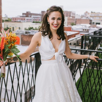 A Designer Bride's Hip Brooklyn Wedding With Tropical Vibes | KM Photo 26