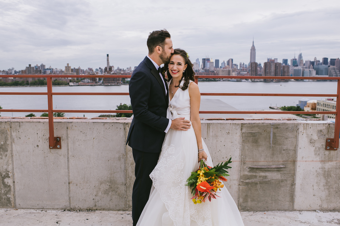 A Designer Bride's Hip Brooklyn Wedding With Tropical Vibes | KM Photo 4