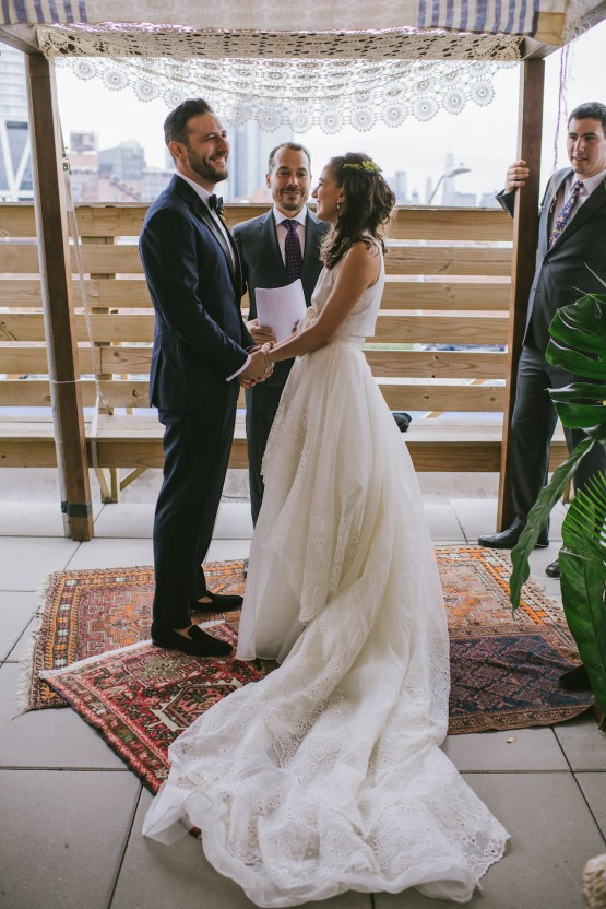 A Designer Bride's Hip Brooklyn Wedding With Tropical Vibes | KM Photo 41