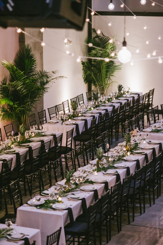A Designer Bride's Hip Brooklyn Wedding With Tropical Vibes | KM Photo 51
