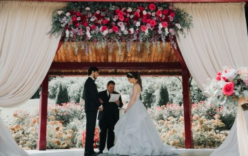 Classic Romance; A Heartfelt Wedding Filled With Red Roses
