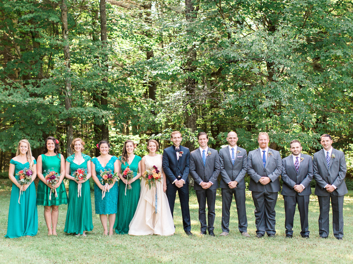 Colorful Vermont Lodge Wedding (With Sparkler Magic!) | Molly Lichten Photography 43