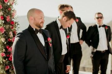 Intimate & Luxurious Cliffside Santorini Wedding   Stella and Moscha   Nikos Gogas 38