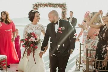 Intimate & Luxurious Cliffside Santorini Wedding   Stella and Moscha   Nikos Gogas 43