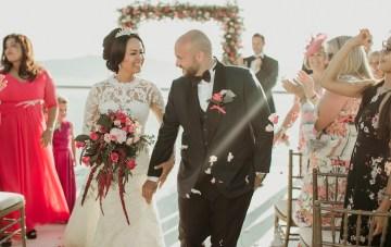 Intimate & Luxurious Cliffside Santorini Wedding