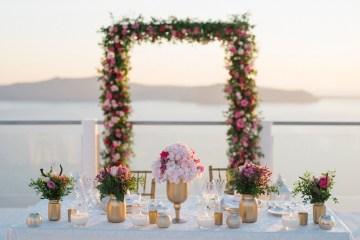 Intimate & Luxurious Cliffside Santorini Wedding   Stella and Moscha   Nikos Gogas 55