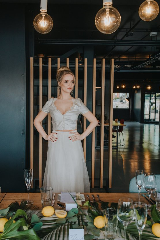 Modern Industrial London Wedding Inspiration With Succulents   Remain in the Light Photography 15