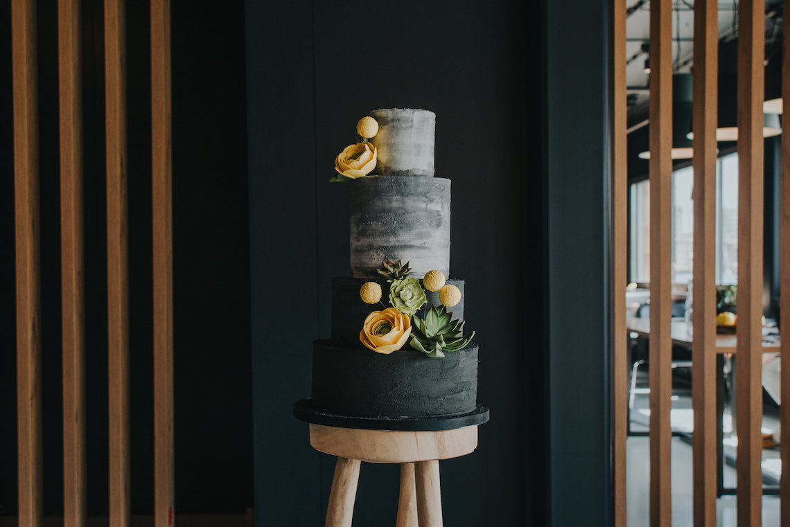 Modern Industrial London Wedding Inspiration With Succulents   Remain in the Light Photography 35