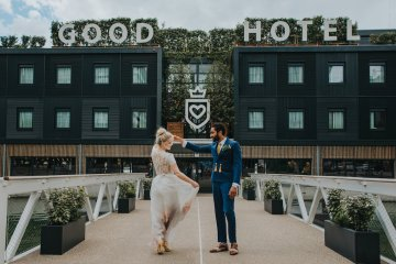 Modern Industrial London Wedding Inspiration With Succulents | Remain in the Light Photography 48