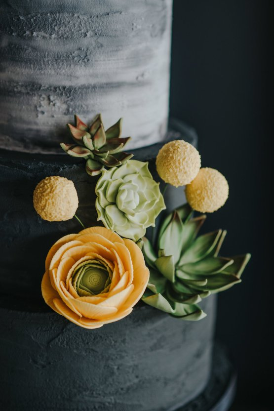 Modern Industrial London Wedding Inspiration With Succulents   Remain in the Light Photography 6