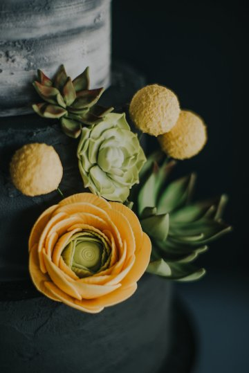 Modern Industrial London Wedding Inspiration With Succulents | Remain in the Light Photography 7