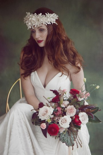 Rose Gold; Romantic Wedding Ideas With Stunning Headpieces | Flavelle & Co 12