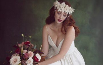 Rose Gold; Romantic Wedding Inspiration With Stunning Headpieces