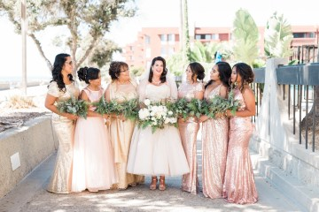 Sparkling Pink & Gold California Wedding | Haley Richter Photography 3