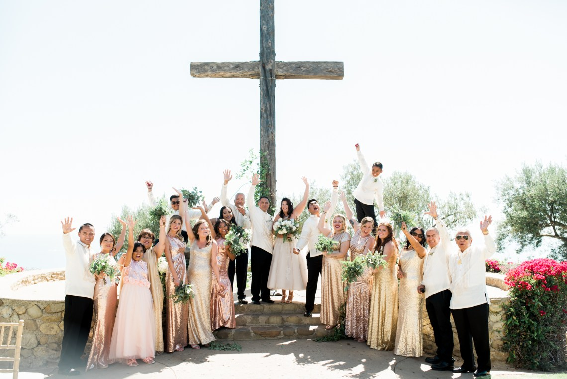 Sparkling Pink & Gold California Wedding | Haley Richter Photography 8