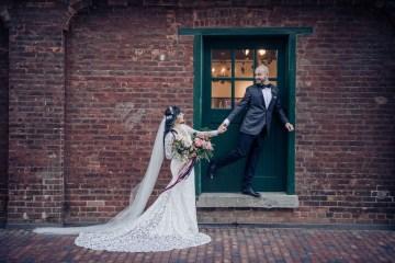 Edgy & Romantic Distillery Wedding | AGI Studio 1