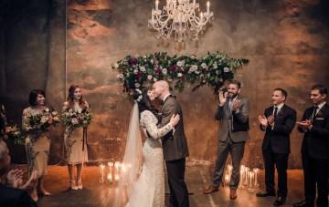 Edgy & Romantic Distillery Wedding
