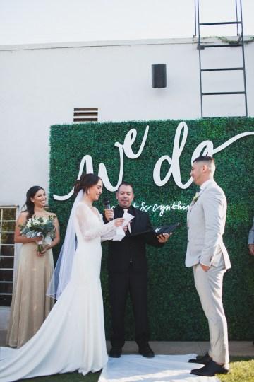 Modern Hip Taco Wedding In A Funky Gallery Venue | Claire Eliza 12
