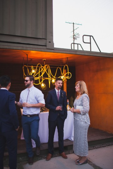 Modern Hip Taco Wedding In A Funky Gallery Venue | Claire Eliza 47