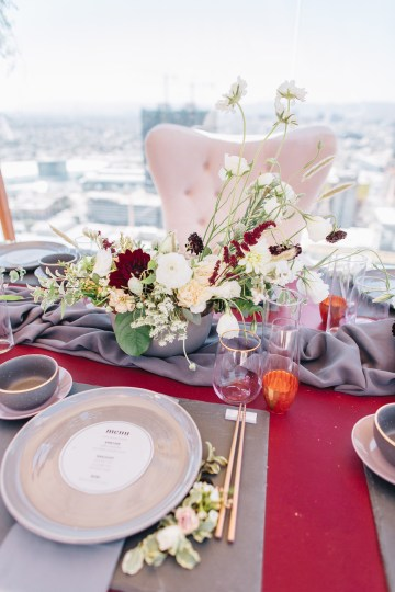 Modern Japanese Inspired Rooftop Wedding Inspiration (With Sushi & Uni, Yum!) | CCL Events | Christine Farah Photography 18