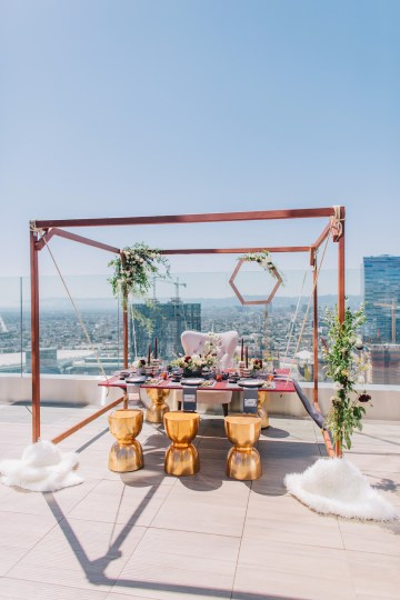 Modern Japanese Inspired Rooftop Wedding Inspiration (With Sushi & Uni, Yum!) | CCL Events | Christine Farah Photography 36