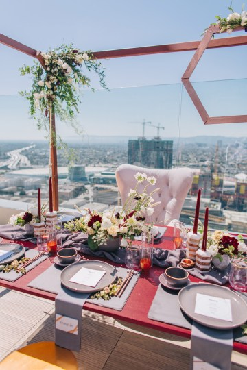 Modern Japanese Inspired Rooftop Wedding Inspiration (With Sushi & Uni, Yum!) | CCL Events | Christine Farah Photography 37