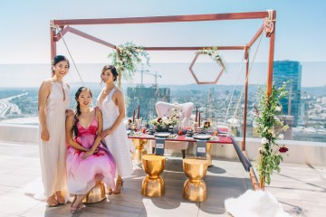 Modern Japanese Inspired Rooftop Wedding Inspiration (With Sushi & Uni, Yum!) | CCL Events | Christine Farah Photography 58