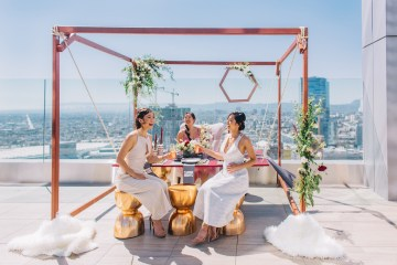Modern Japanese Inspired Rooftop Wedding Inspiration (With Sushi & Uni, Yum!) | CCL Events | Christine Farah Photography 59