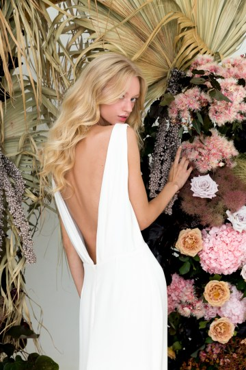 Modern Silk Gowns & Floral Wall Inspiration For The Hip Bride | Anastasia Fua elliftheartist 10