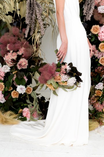 Modern Silk Gowns & Floral Wall Inspiration For The Hip Bride | Anastasia Fua elliftheartist 19