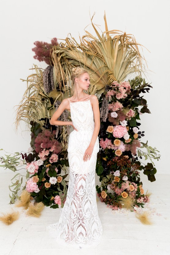 Modern Silk Gowns & Floral Wall Inspiration For The Hip Bride | Anastasia Fua elliftheartist 37