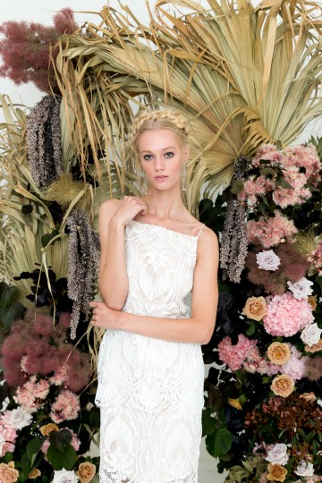 Modern Silk Gowns & Floral Wall Inspiration For The Hip Bride | Anastasia Fua elliftheartist 38