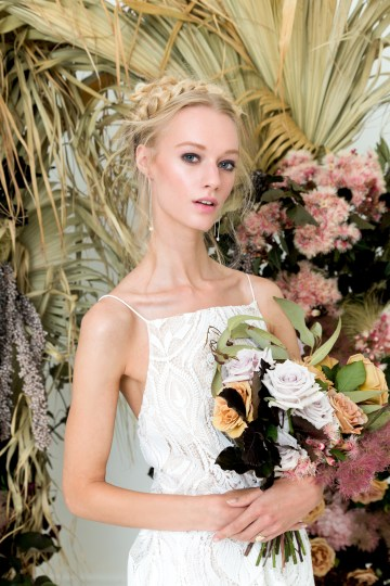 Modern Silk Gowns & Floral Wall Inspiration For The Hip Bride | Anastasia Fua elliftheartist 45