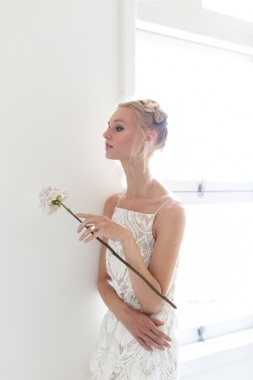 Modern Silk Gowns & Floral Wall Inspiration For The Hip Bride | Anastasia Fua elliftheartist 47