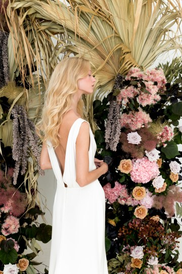Modern Silk Gowns & Floral Wall Inspiration For The Hip Bride | Anastasia Fua elliftheartist 8
