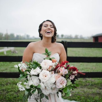 Romance In The Rain; Rustic Barn Wedding Ideas With Dramatic Florals | Flor de Casa Designs 1