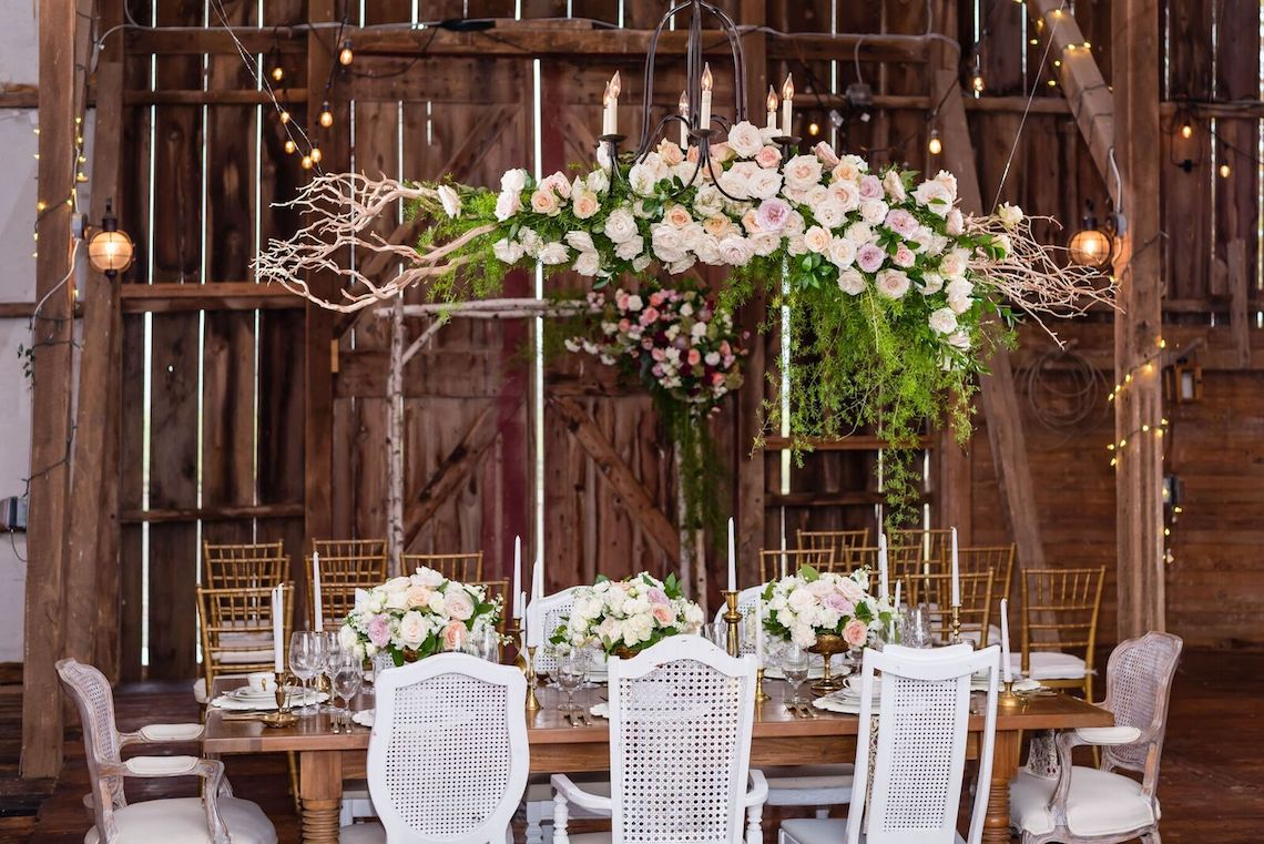 Romance In The Rain; Rustic Barn Wedding Ideas With Dramatic Florals | Flor de Casa Designs 28