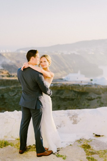 Classy Santorini Destination Wedding (With Amazing Caldera Views!) | Elias Kordelakos 25