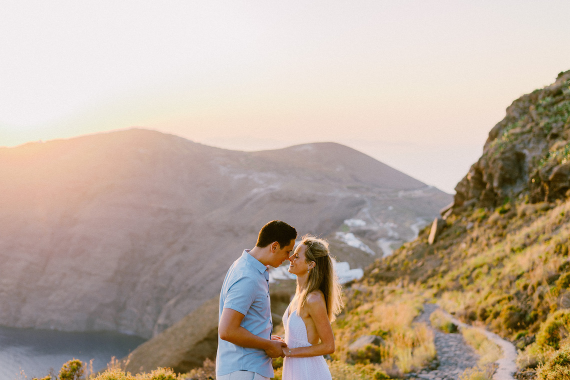 Classy Santorini Destination Wedding (With Amazing Caldera Views!) | Elias Kordelakos 36