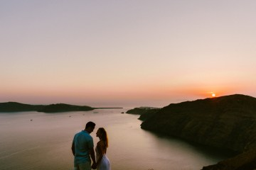 Classy Santorini Destination Wedding (With Amazing Caldera Views!) | Elias Kordelakos 38